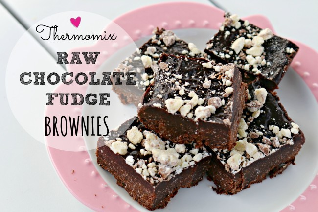 raw choc fudge brownies 1
