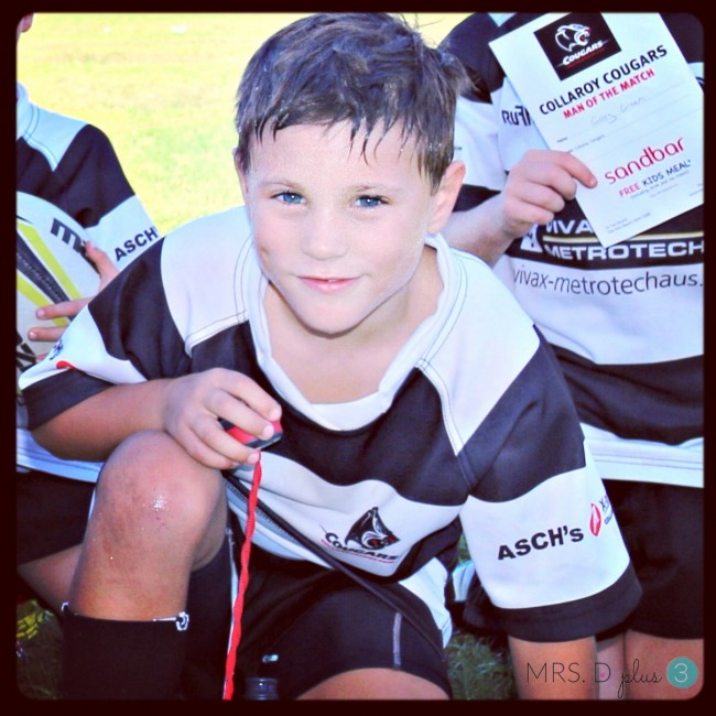 My gorgeous boy - playing Union for the Cougars Mighty Reds.