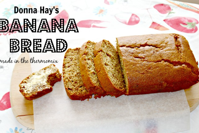 Donna Hay's banana bread made in the thermomix 2