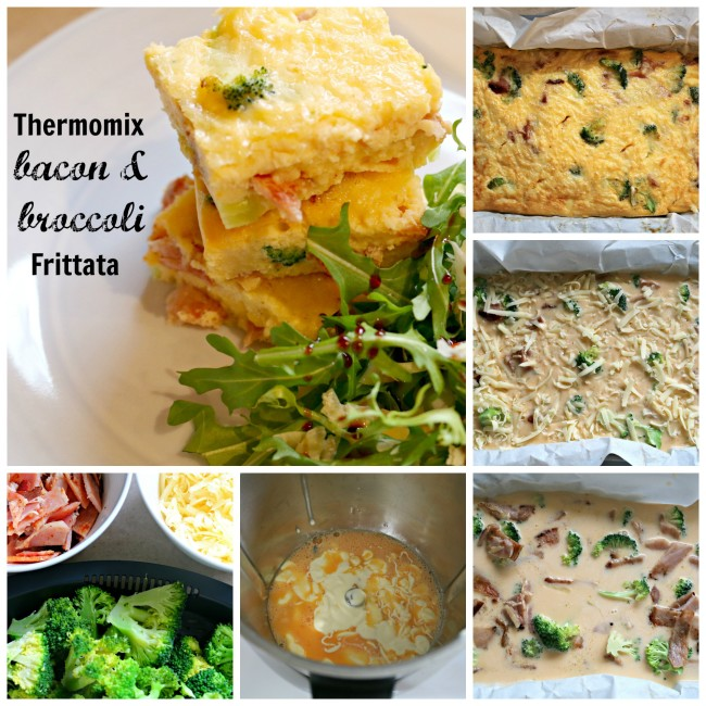 bacon and broccoli frittata