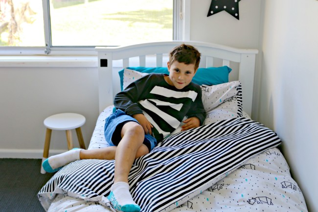 Cotton on kids boys bedroom makeover - after