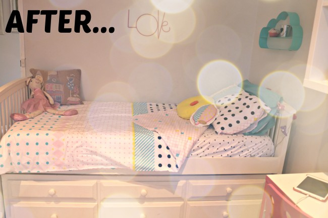 bubble spot girls bedroom make over - after