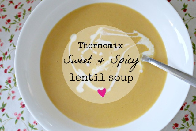 thermomix sweet and spicy lentil soup 1