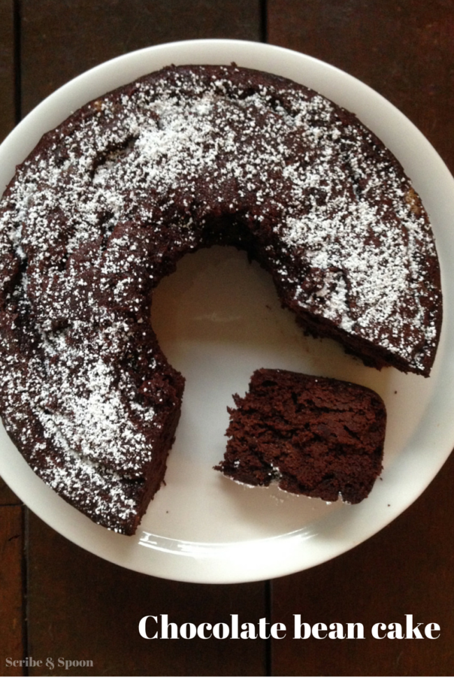 Chocolate-bean-cake