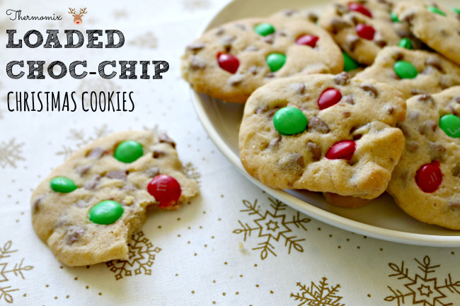 thermomix christmas choc chip cookies 2
