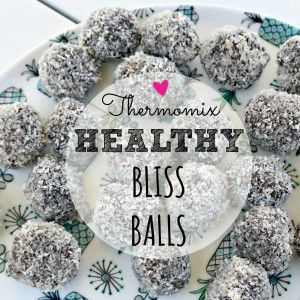 recipe of the week.  Healthy bliss balls