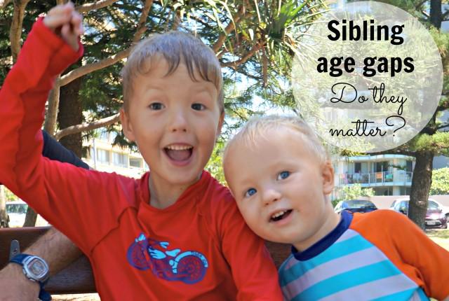 sibling age gaps 1