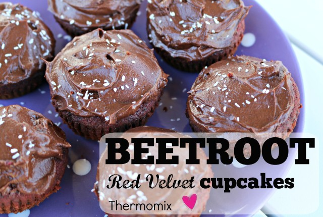 thermomix red velvet beetroot cupcakes 1