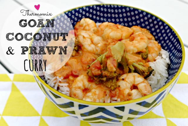 thermomix Goan coconut and prawn curry